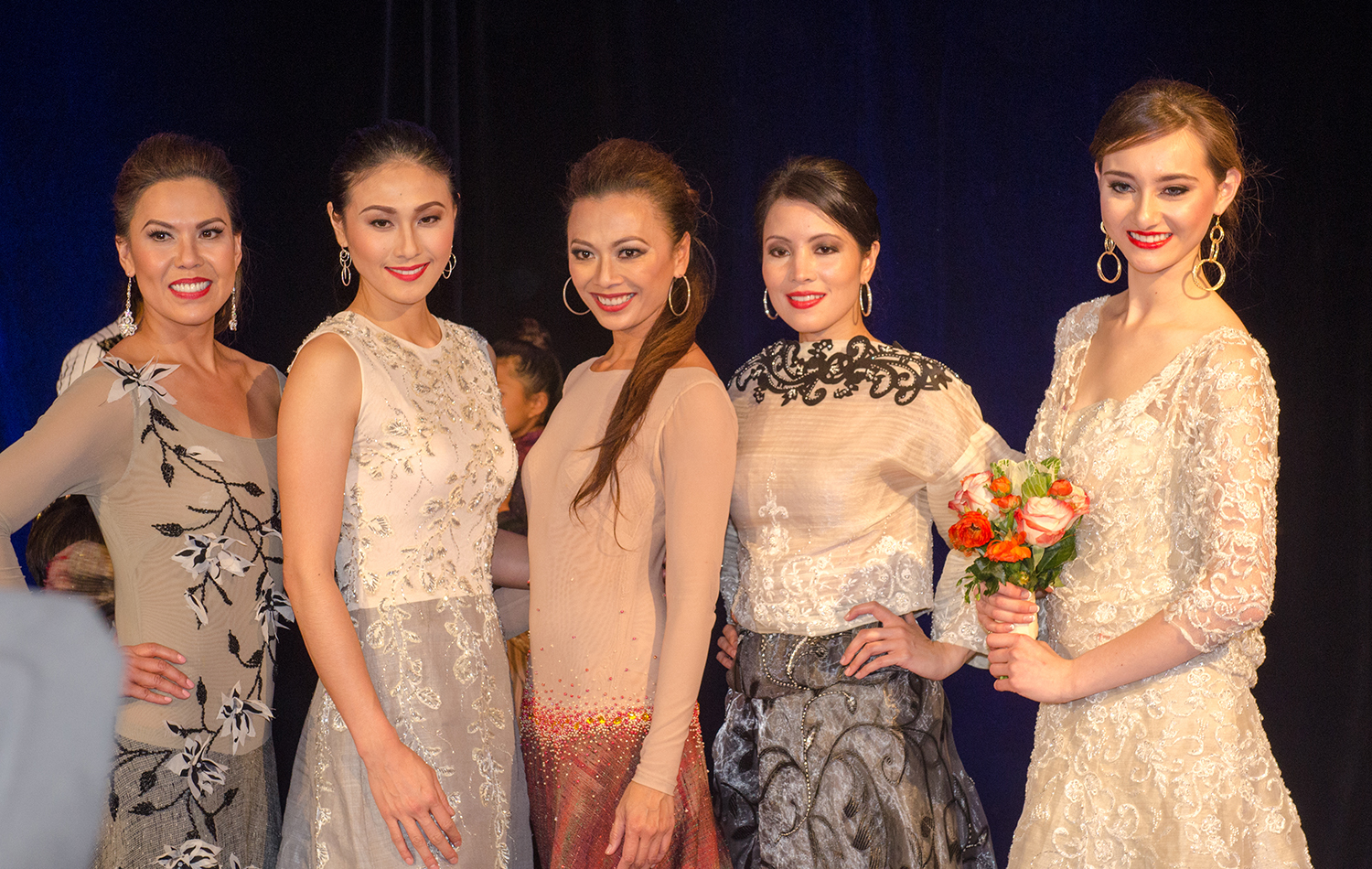 """Ramos' designs modeled by PIA's volunteers at its """"Holiday Haute Couture XII"""" fashion show fundraiser  (Photo by iClickforacause.org)"""