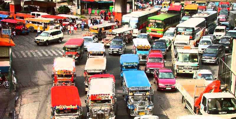 Driving through Manila traffic is not for the faint of heart.  (Source: cashmerecravings.blogspot.com)