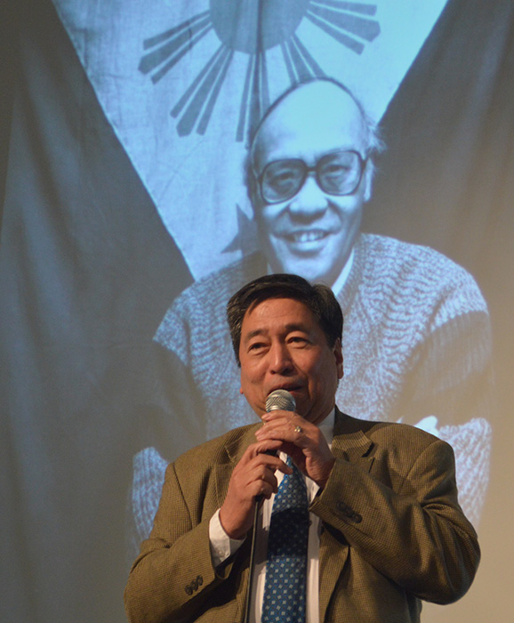 Author Rodel Rodis remembers Fred Cordova  (Photo courtesy of Rodel Rodis)