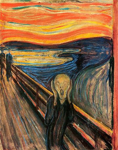 Edvard Munch's  The Scream  (Source: Wikimedia Commons)