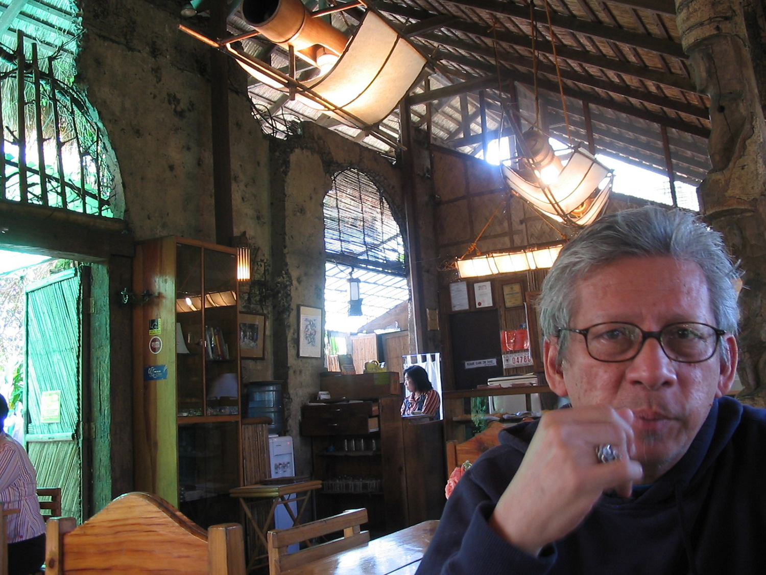 Luis H. Francia at Cafe-by-the-Ruins (Photo courtesy of Luis H. Francia)