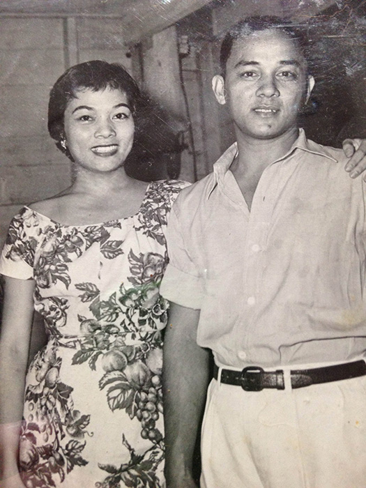 Caridad Sanchez and her youngest brother, Pat (Photo courtesy of Cathy S. Babao)