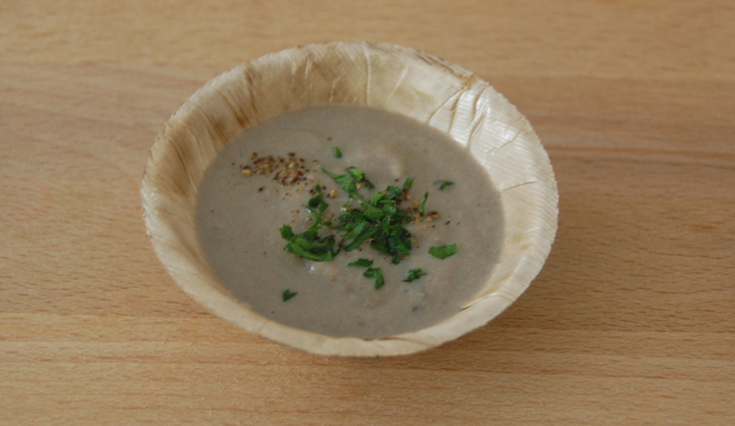 "Onederful ""Cream"" of Mushroom Soup (Photo by Raymond Virata)"