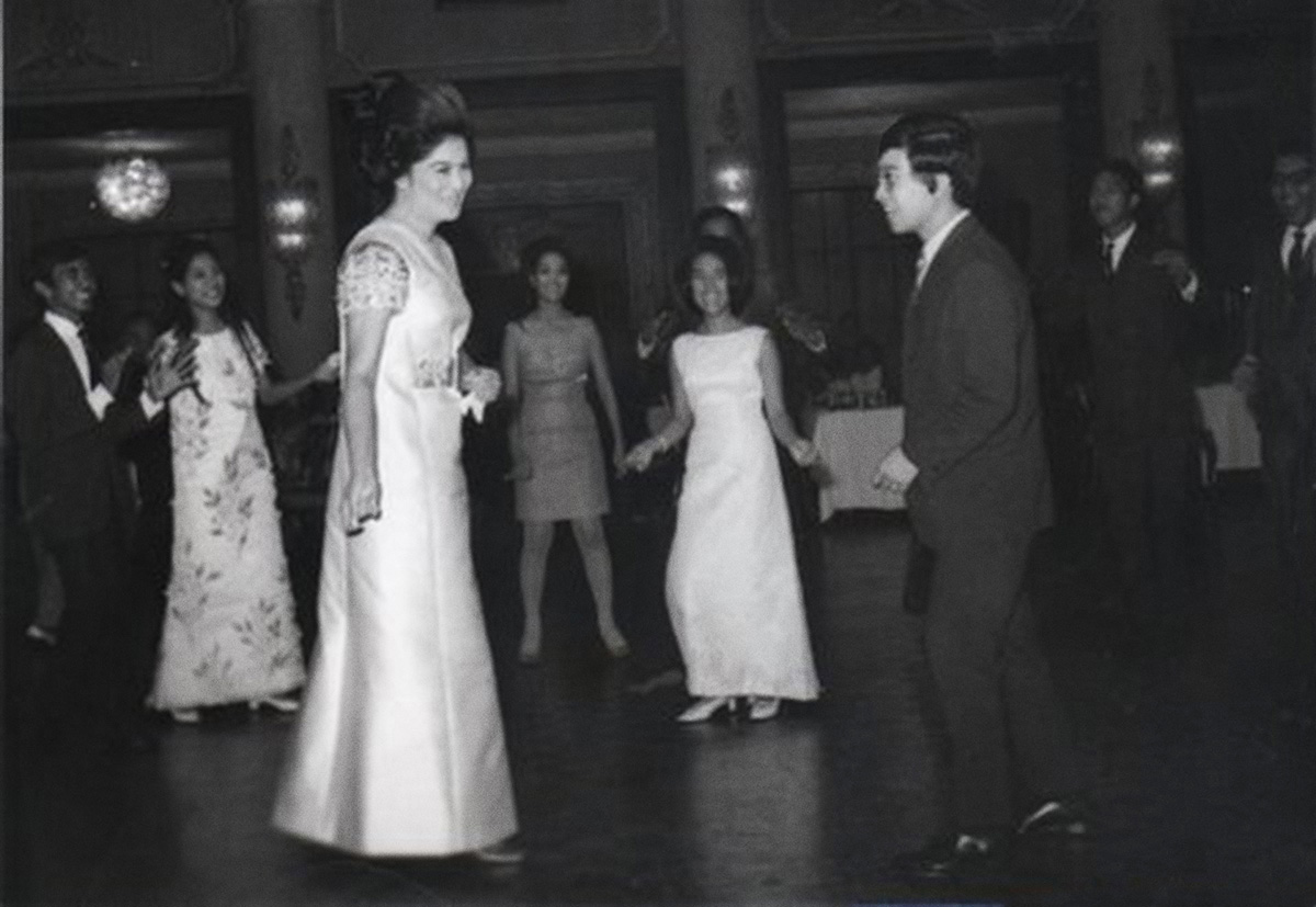 Fritz Friedman dancing with First Lady Imelda Marcos when he was 17. (Photo courtesy of Fritz Friedman)