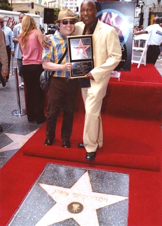 Fritz Friedman and director John Singleton (Photo courtesy of Fritz Friedman)