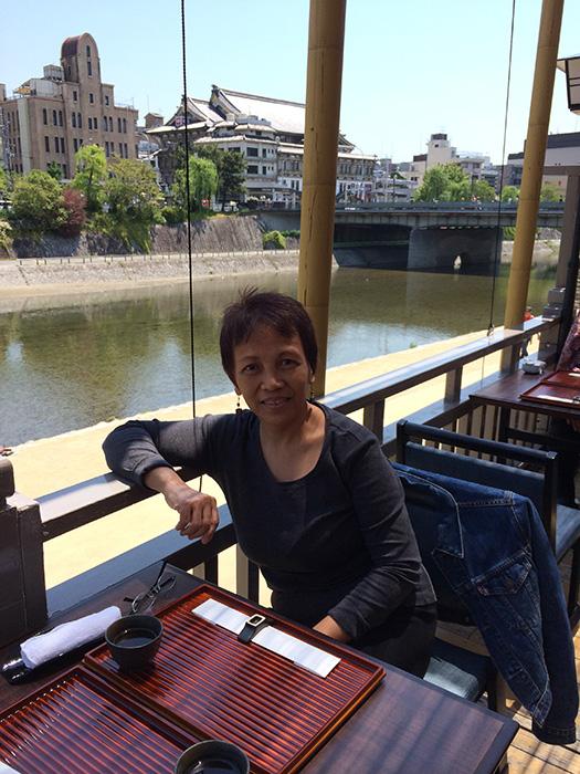 Author Marites Vitug in Kamo (Photo courtesy of Marites Vitug)