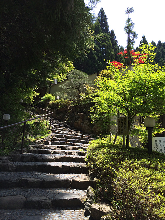 The entrance to an onsen (Photo courtesy of Marites Vitug)