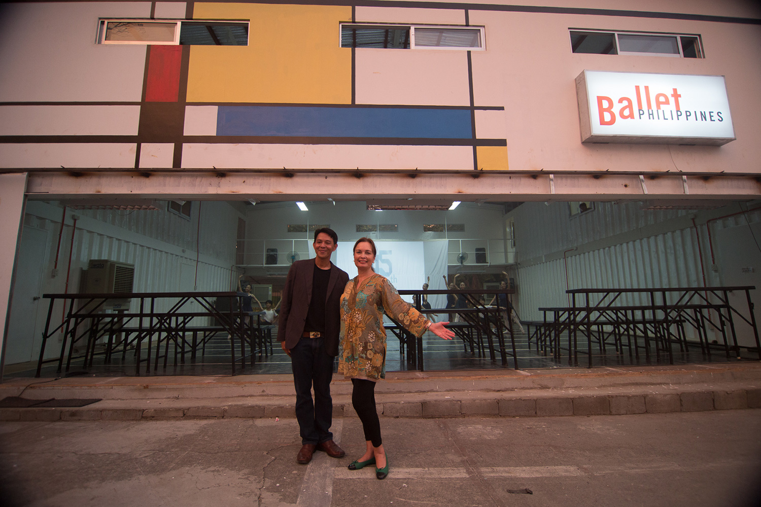 Margie Moran-Floirendo and Paul Morales at the opening of the studio (Photo by© John Christopher Yuhico)
