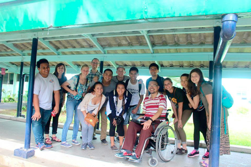 """This year's group of USF students visited """"Tahanang Walang Hagdanan"""" (meaning """"House without Stairs"""" for people with disabilities). (Photo by Ty Bernardo)"""