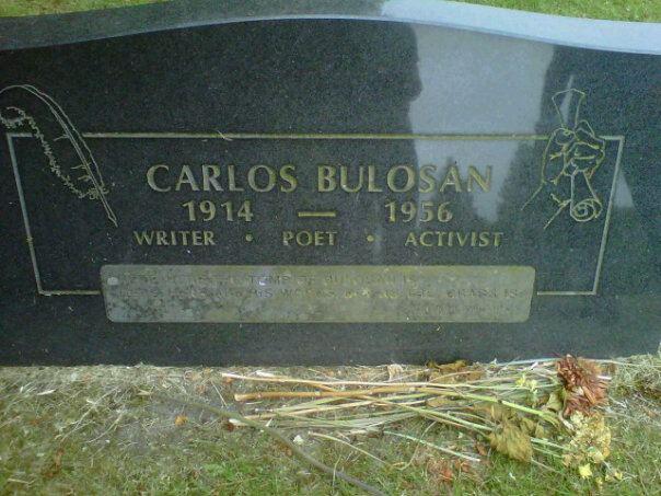 Carlos Bulosan's tombstone (Photo by Barbara Jane Reyes)