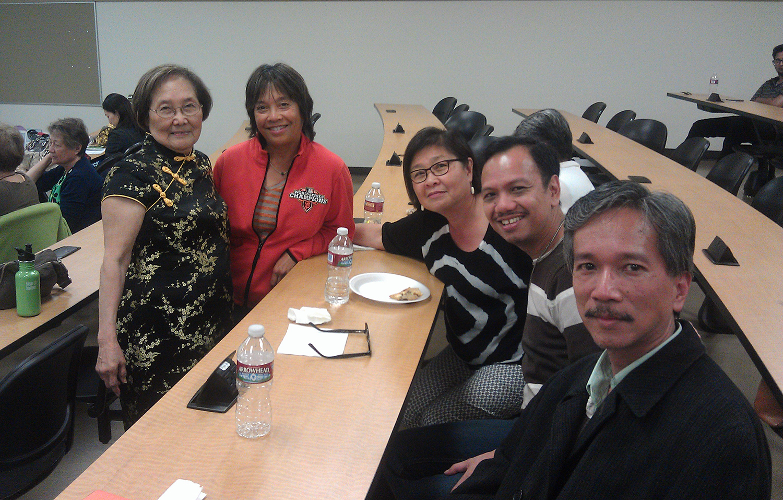 Penelope Flores, Lisa Suguitan Melnick, Maya Ong Escudero, Anthony Legarda and Edwin Lozada (Photo by Raymond Virata)