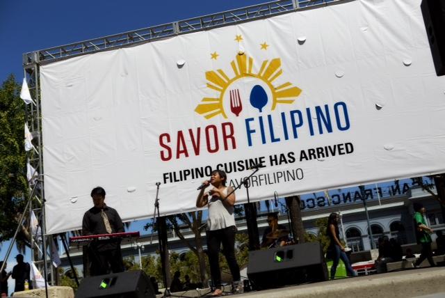 Kristine Sinajon serenades the gutom and busog at Savor Filipino 2014 (Photo courtesy of Ron Quesada)