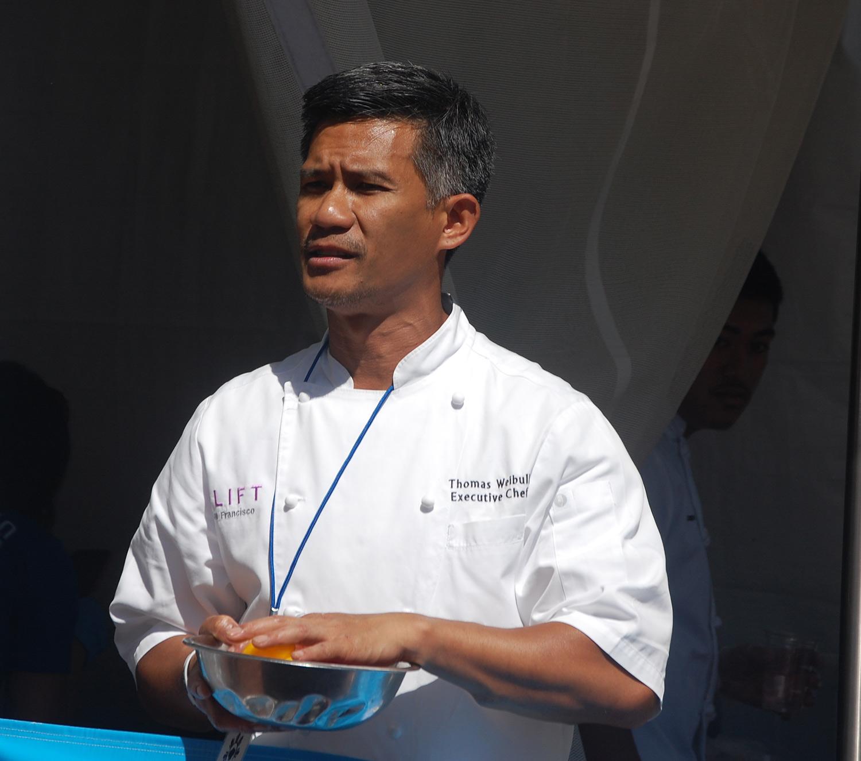 Chef Thomas Weibull starts off the cooking demos at Savor Filipino(Photo by Raymond Virata)