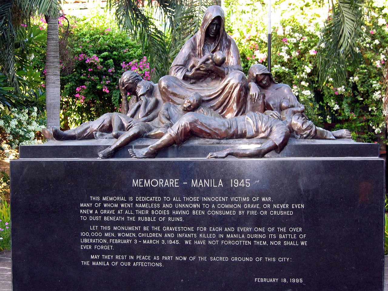 Memorare Manila 1945 (Source: Wikimedia.Commons)