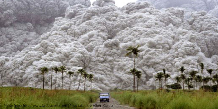 Mount Pinatubo erupted in 1991 (Photo by Albert Garcia)