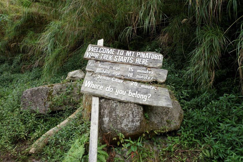 Trek marker (Photo by Sonny Siasoco)