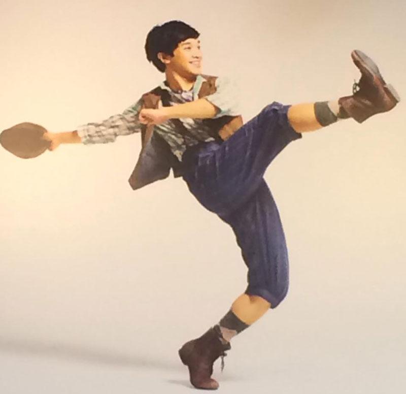 "Julian DeGuzman as Finch in Disney musical ""Newsies.""  (Source: Disney Theatrical Productions)"