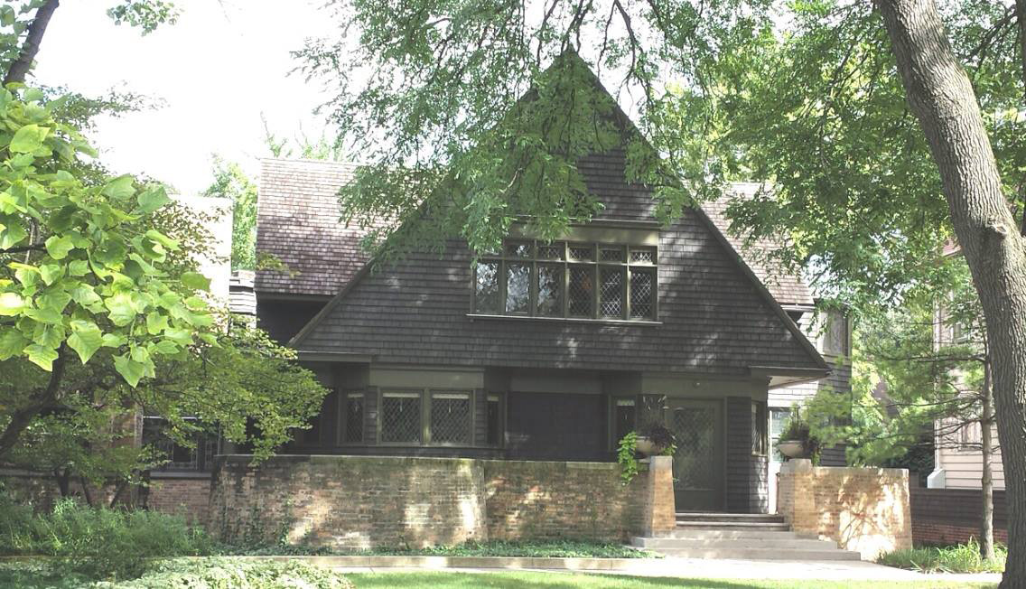 Oak Park, IL claims two American icons: Hemingway who was born here and Frank Lloyd Wright who built his first home (above) - and several others- here. (Photo by Irwin Ver)