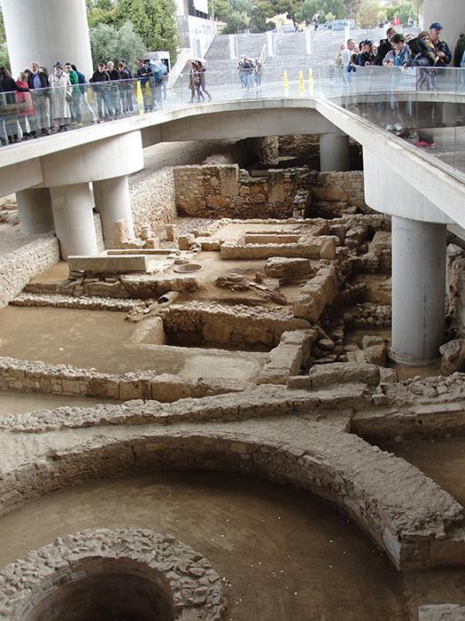 The village beneath the Acropolis Museum (Photo by M. Z. Moreno)
