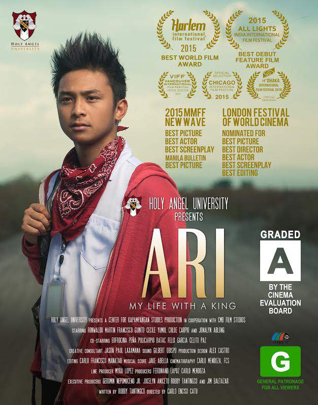 """""""ARI, My Life With A King"""", an indie Capampangan film produced by Holy Angel University's Center for Capampangan Studies (Pampanga, Philippines) has won global awards and worldwide acclaim. The film has been shown in the USA, Canada, Europe, India with more future screenings scheduled in other cities soon. (Image courtesy of  Carlo Enciso Catu)"""