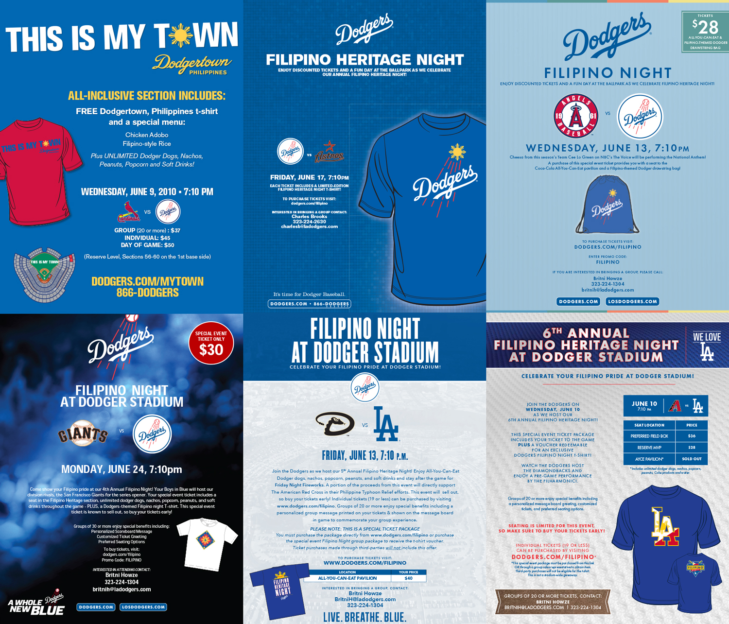 Promotional posters for the Los Angeles Dodgers' Filipino Night at Dodger Stadium (Images courtesy of the Los Angeles Dodgers)