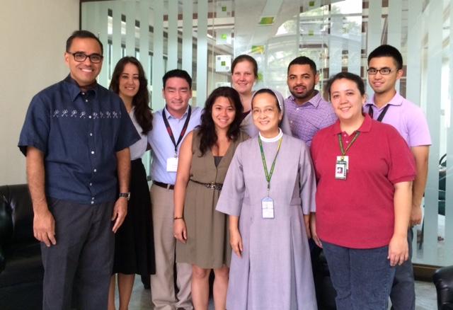 Litton and his teacher fellows (Photo courtesy of Edmundo Edward Litton, Ph.D.)