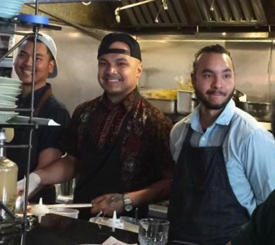 The culinary team led by Chef Tom Cunanan (center) (Photo by Wilma Consul)