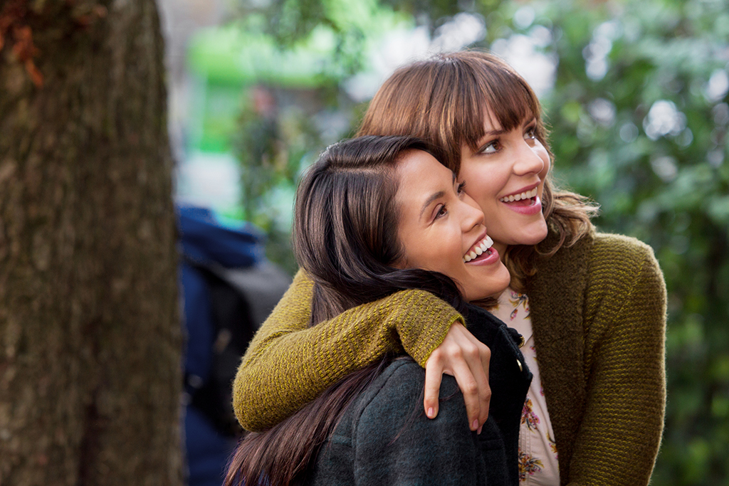 "Jessalyn with Katheryn McPhee in Hallmark Channel's ""In My Dreams"""