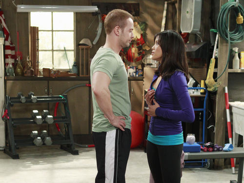 "Jessalyn with Joey Lawrence in ABC Family's ""Melissa and Joey"""