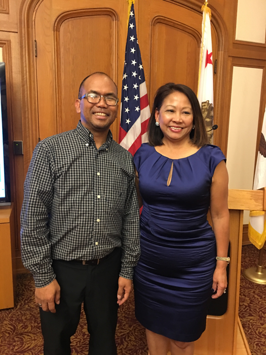 Filipino American Arts Exposition President and San Francisco Entertainment Commissioner Al S. Perez and Pistahan Parade and Festival Hermana Mayor Sonia Delen