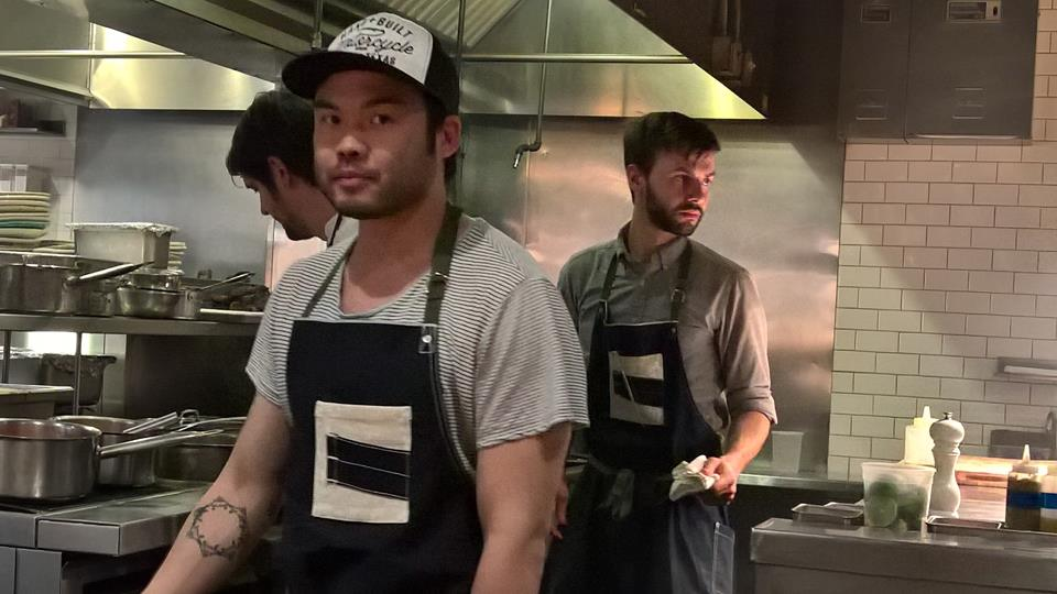 Chef Paul Qui in action at one of his 4 restaurants in Austin, Texas (Photo by Jane Po)