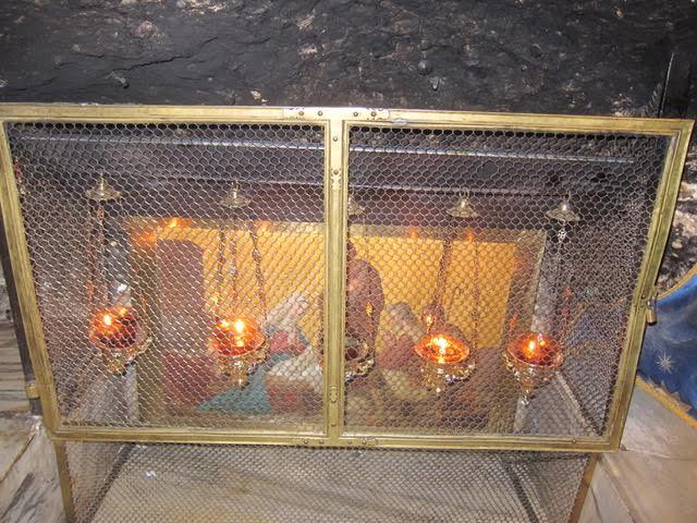 The manger under renovation. (Photo by Mona Lisa Yuchengco  )