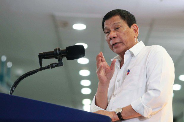 President Rodrigo Duterte (Photo by Ace Morandante)