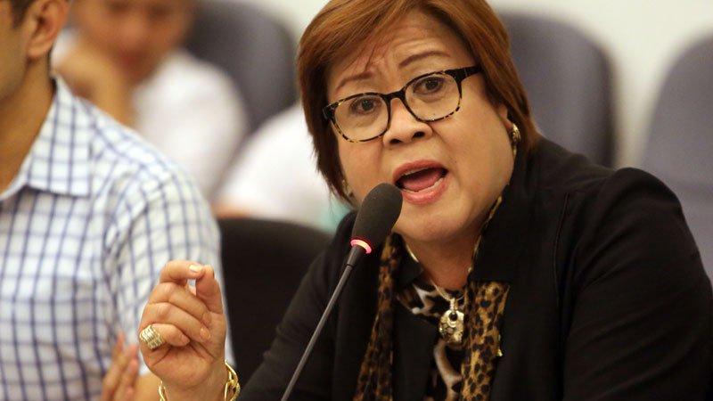 Senator Leila De Lima (Photo by Joan Bondoc/Inquirer.net)