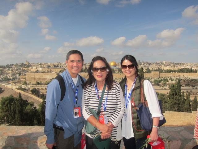 PIA Chair Mona Lisa Yuchengco with board members Teddy Diaz De Rivera and Lyra Maceda on the Holy Land Pilgrimage fundraiser. (Photo courtesy of Mona Lisa Yuchengco)