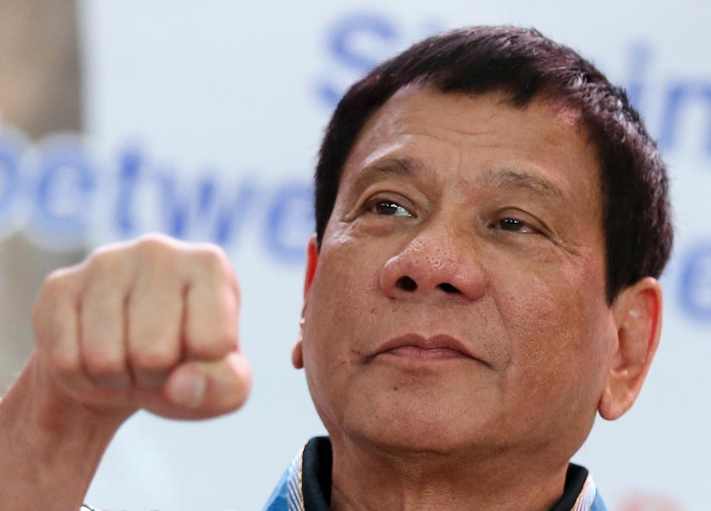 New Philippine President Rodrigo Duterte (Photo by Lyn Rillon/Inquirer.net)