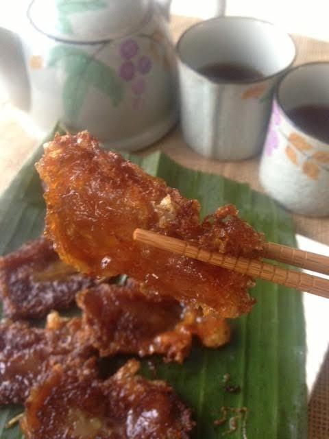 Fried tikoy slices  (Photo by Besa-Quirino, LLC ©)