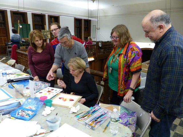 Watercolor class at Arts Guild New Jersey located in Rahway, New Jersey. (Photo courtesy of Angelito de Leon David)