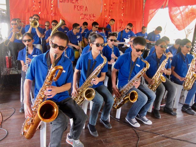 The saxophonists
