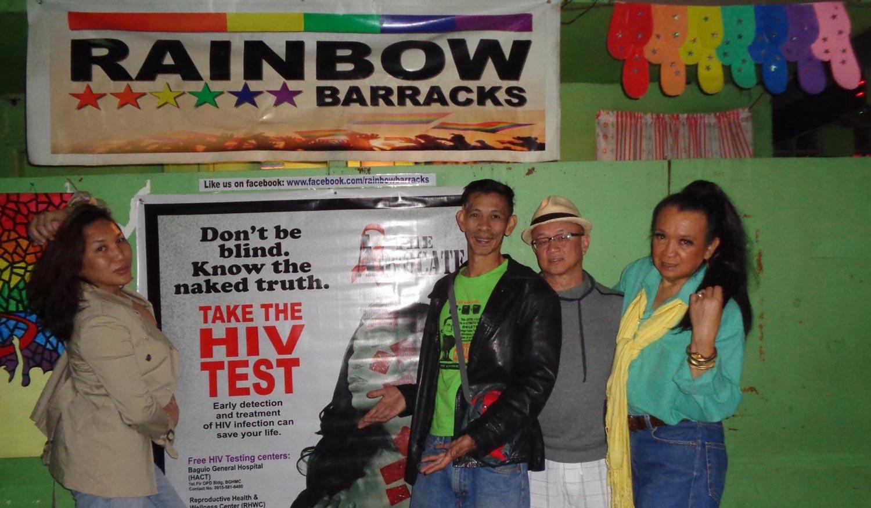 Volunteer Santy, Pastor Myke, author, and Yabut (Photo courtesy of Bootz Yabut)