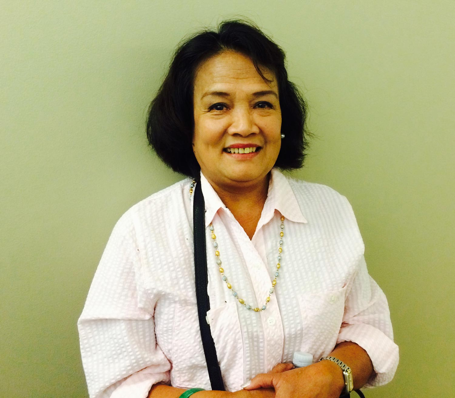 Leah Tejada, 63, is a caregiver based in Los Angeles. Her family's home has been destroyed multiple times on the north coast of Leyte from typhoons, but she still plans to return after retirement and help her family withstand climate change's affects in the coming years.