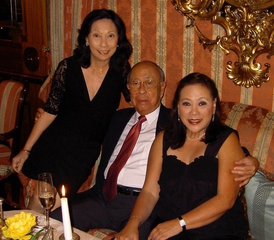 Dinner with sister, Bella, and Dad before going to the opera in Salzburg in 2006.