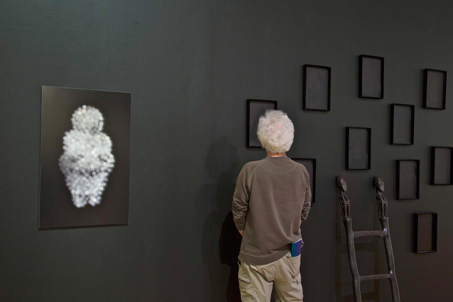 Installation view of the exhibit with the Venus of Willendorf. (Photo by © Mills Art Museum)