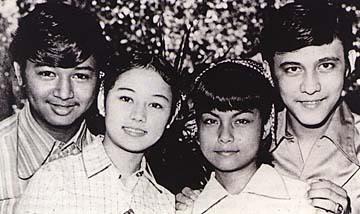 "Stars of ""Young Love"" Edgar Mortiz, Vilma Santos, Nora Aunor, and Tirso Cruz III (Source: Video48.blogspot.com)"