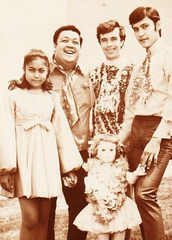 Nora Aunor, with celebrity hosts Ike Lozada and German Moreno, and screen partner Tirso Cruz III (Photo by Mercy Masangkay)