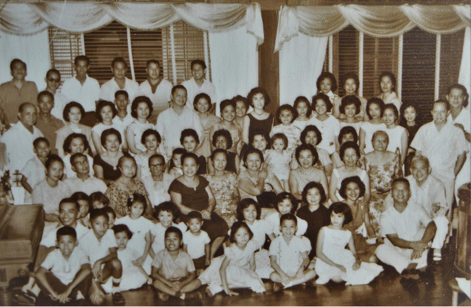 A (partial) clan gathering (author is the child on left, third row from the top). Fertility was obviously NOT a problem here.
