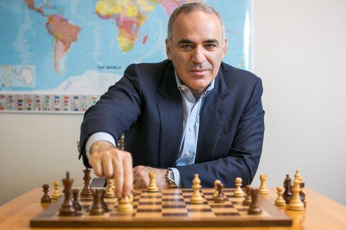 Former World Chess Champion Garry Kasparov (Photo by Benjamin Chasteen)