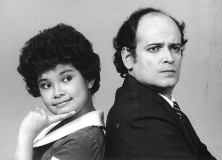 Lea Salonga and Jaime Fabregas in Annie in 1984.