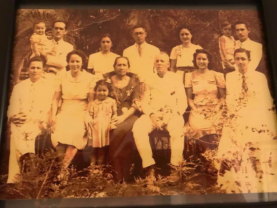 My parent's wedding day, April 27, 1940, behind the house where I would be born (Photo courtesy of Victor Sesenia Gutierrez)