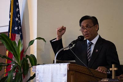 Consul Gen. Henry S. Bensurto will lead the Pledge to Help End DV. (Photo by Voltaire V. Yap)
